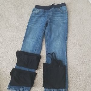 Girls 10/12 jeans and undergarments